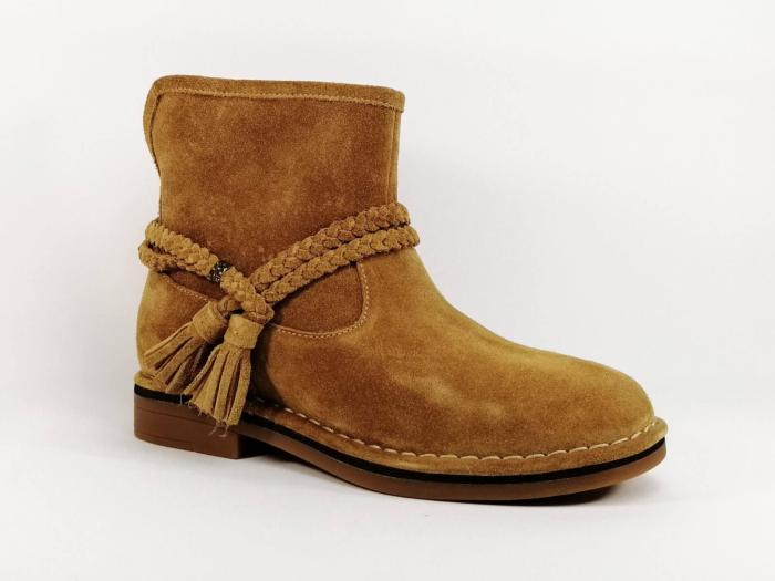 Bottine cuir camel HUSH PUPPIES Charity