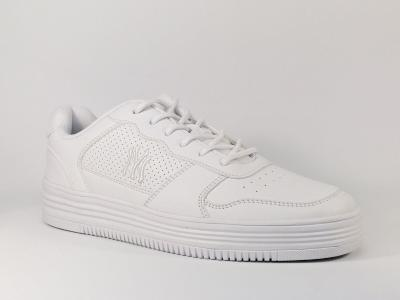Sneakers homme tendance simili cuir blanc Destockage NY greenpoint