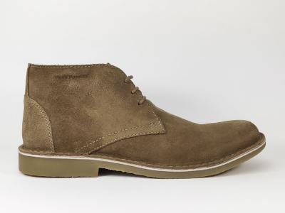 Chaussures montantes homme en cuir camel Destockage HUSH PUPPIES Lord