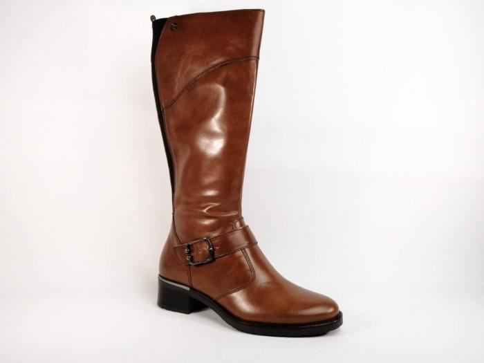 Botte en cuir marron TAMARIS