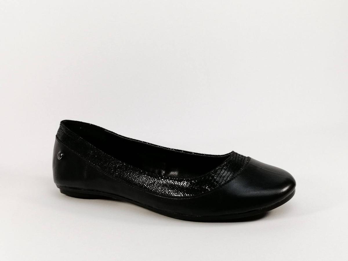 Ballerine en simili cuir noir à petit prix