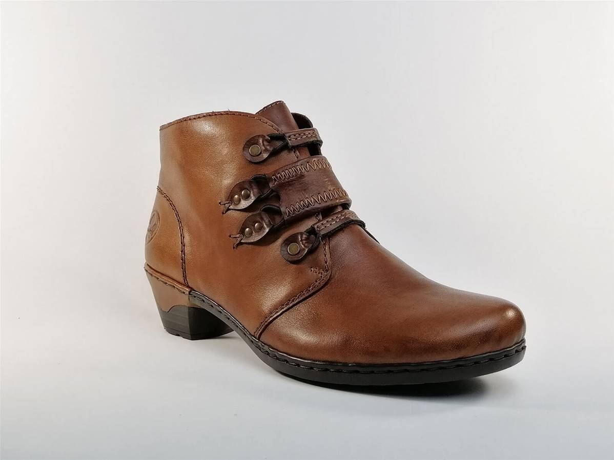Bottine en cuir marron RIEKER | Pointure Plus