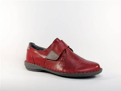 Chaussure cuir rouge scratch Guise MORAN'S