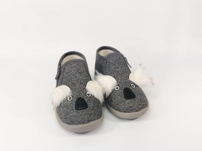Chausson gris Koalazip en destockage LITTLE MARY pour enfant
