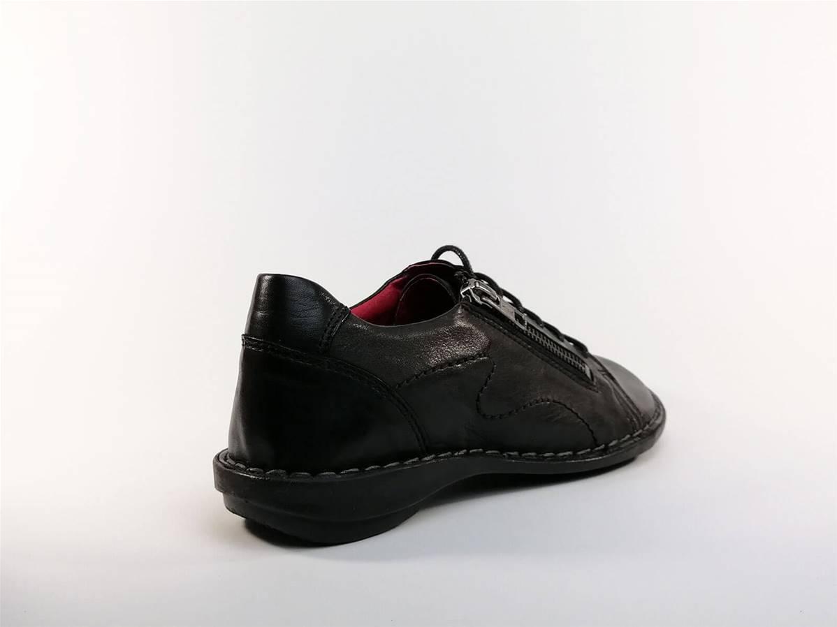 Chaussure basse en cuir noir Guillac MORAN'S pour femme