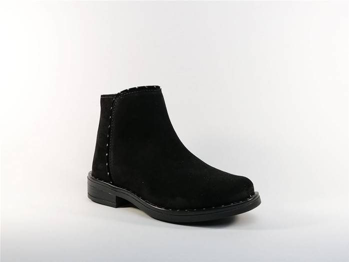 Bottine en cuir noir MKIDS