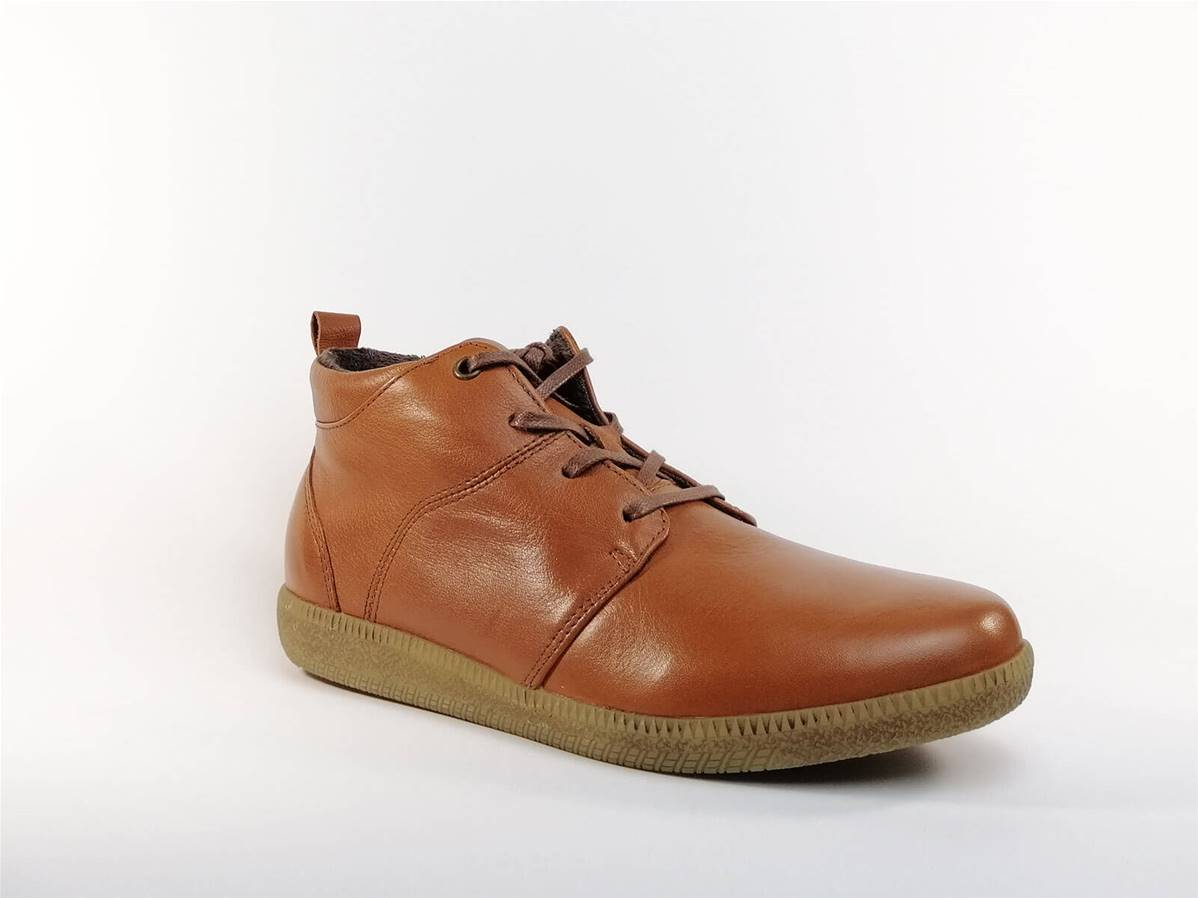 Chaussure montante cuir camel Lisea MORAN'S | Pointure Plus