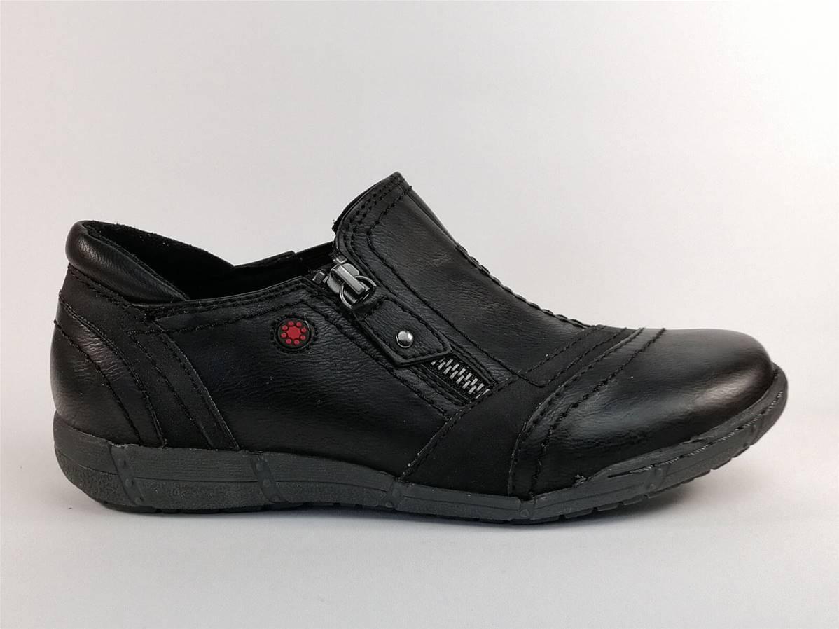 Chaussure de ville noire RELIFE by Luxat Rizip   Pointure Plus