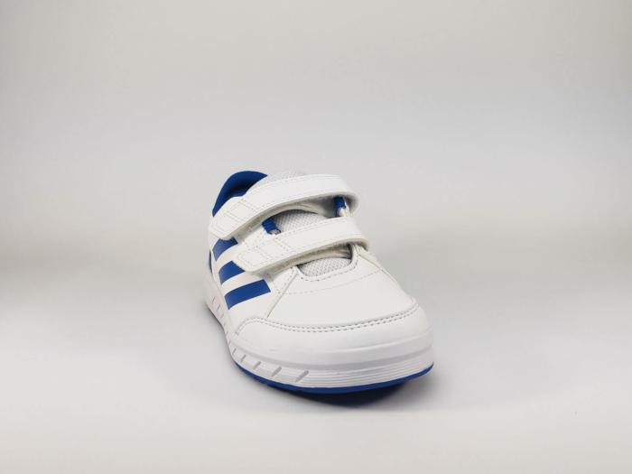Basket blanche de sport à velcro ADIDAS Altasport CF K pour garçons