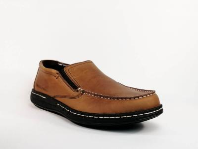 Mocassin confortable cuir marron HUSH PUPPIES Vicar grande pointure homme