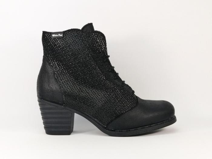 bottines noires en cuir marque espagnol