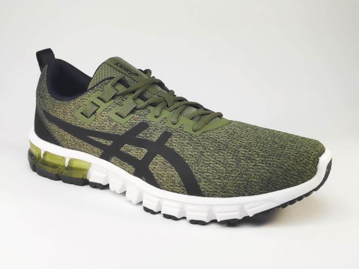 Chaussures running kaki pour homme en destockage ASICS Gel Quantum 90